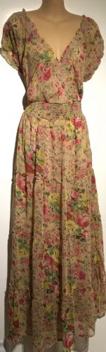 STONE FLORAL CROSS OVER MAXI DRESS BNWT SIZES UK 16-24